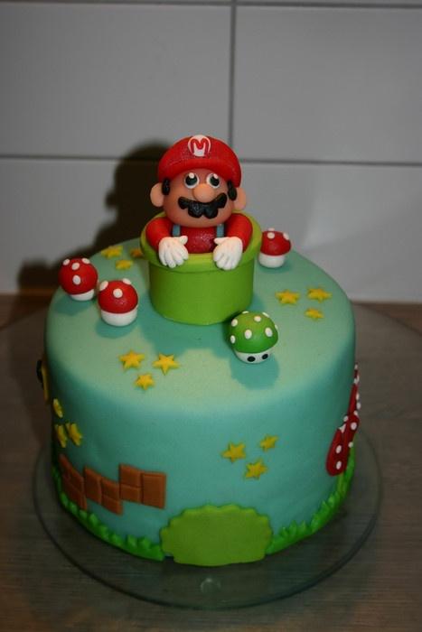 Mario verjaardagstaart. Dat is een geweldige taart!