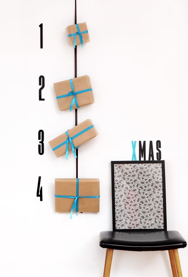 Advent and Christmas inspiration. Make a cool advent gift calendar with our acrylic or wooden numbers.