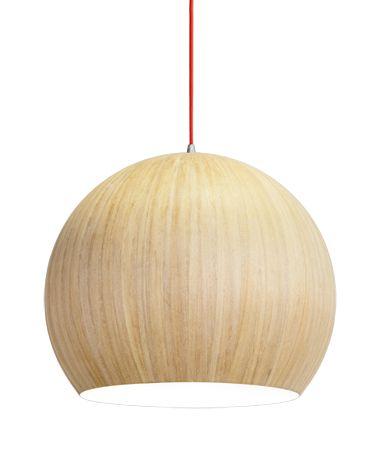 Wooden veneer pendant
