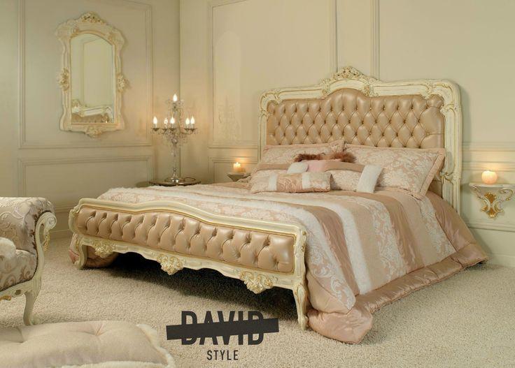 Bed Baroque white gold Letto barocco bianco oro #bedbaroque #lettobarocco #luxurybeds www.david-style.com