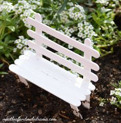 DIY-fairy-garden-popsicle-stick-bench