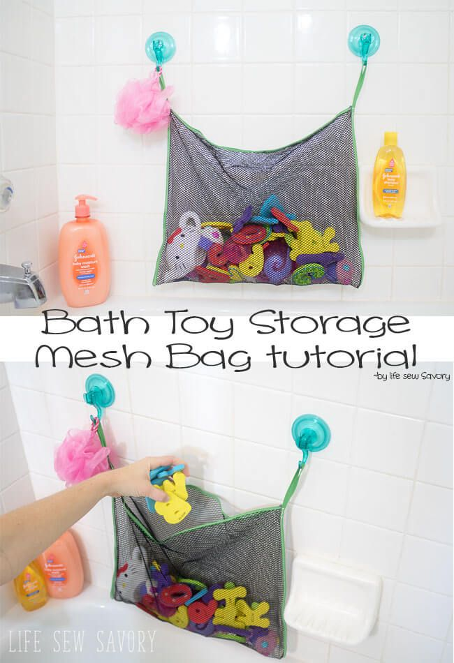 Kids Bath Time Toy Tidy Storage Suction Cup Bags Mesh Bathroom Organiser Net Y