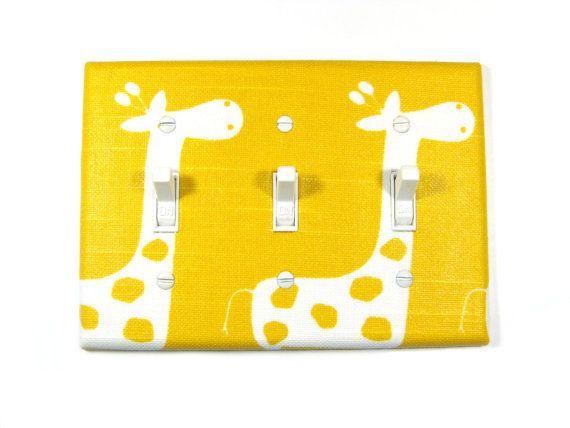 Giraffe Nursery Decor Triple Toggle Light Switch by ModernSwitch, $14.00