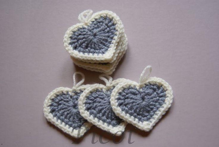 Picot - Szydełkowe Inspiracje: Szydełkowe serca - Girlanda