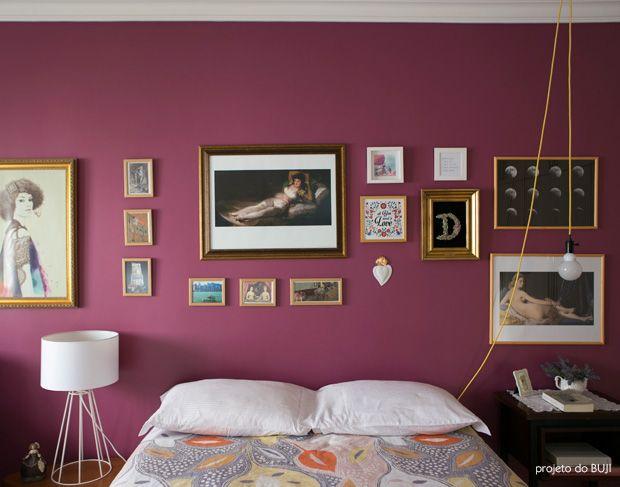 purple gallery wall #decor #bedrooms #quartos