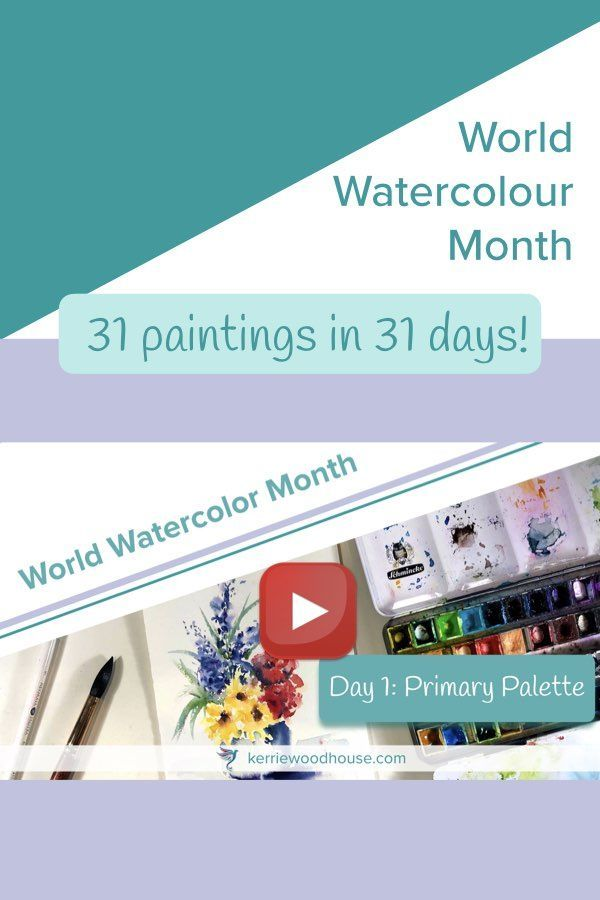 There Are 31 Daily Prompts In The World Watercolor Month Challenge