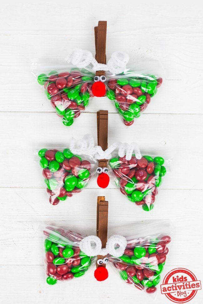 Marvelous Christmas Party Ideas For Kindergarten Part - 7: Christmas Party Favor: Reindeer Treat Bags