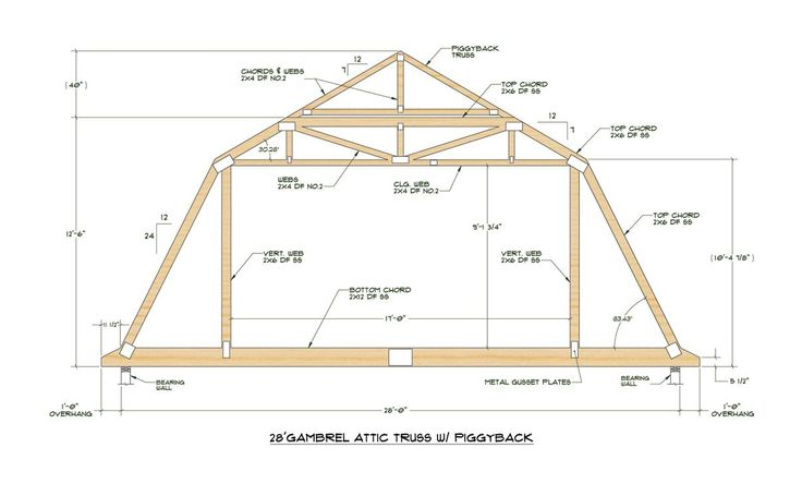 Gambrel Roof Pole Barn Plans - WoodWorking Projects & Plans