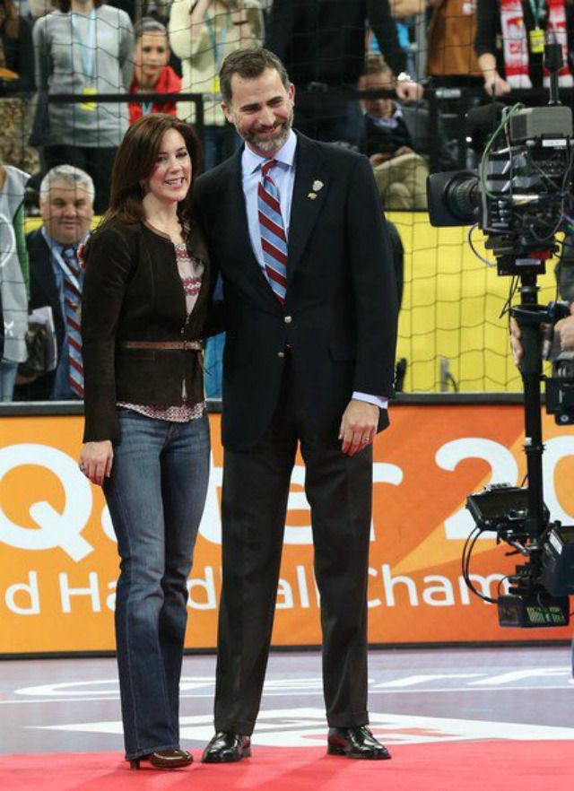 Crown Prince Felipe of Spain  and Crown Princess Mary of Denmark 1/27/13
