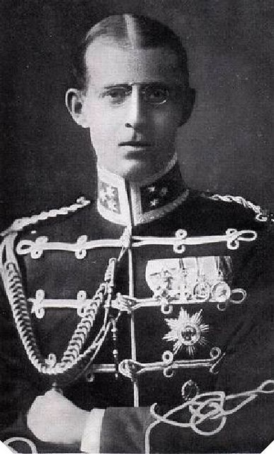 Grandchild of Christian IX - Prince Andrew of Greece & Denmark (1882 – 1944) of the House of Schleswig-Holstein-Sonderburg-Glücksburg, was the 7th child and 4th son of King George I of Greece. He was the father of Prince Philip, Duke of Edinburgh. By 1930, he was estranged from his wife, Princess Alice of Battenberg. His only son, Prince Philip, served in the British navy during WWII, while all four of his daughters were married to German royals, three of whom had Nazi connections.