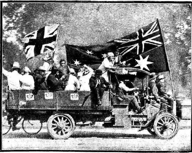 Snapshots of Street Scenes in Sydney Following the Official News of the Armistice - November 1918 - A Typical Street Scene