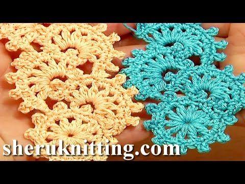 Crochet Puff Stitch Narrow Lace Tape Tutorial 11 Free Crochet Patterns - YouTube