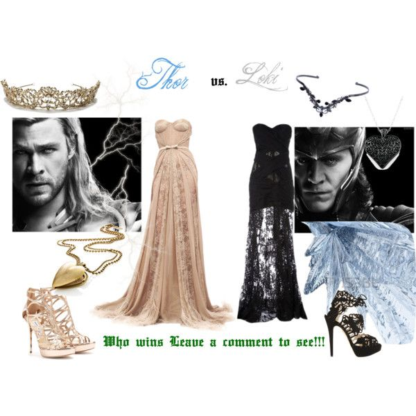 """Thor vs. Loki"" by artsygurl842 on Polyvore"
