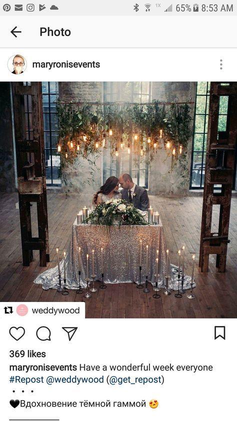 Diy Hochzeit Hintergrund Kopf Tischdekoration 17+ Ideen für 2019   – All That Glitters