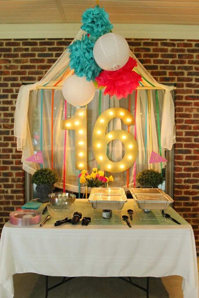 Simple Sweet 16 Party Decoration Ideas For Abby S Sweet 16 Outdoor