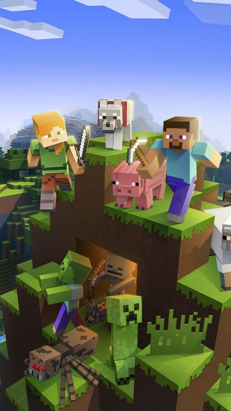 Minecraft Wallpaper Iphone Background Hupages Download Iphone