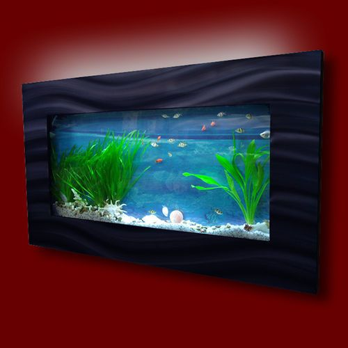 new original aussie aquarium skyline brushed aluminum wall mounted fish tank originals. Black Bedroom Furniture Sets. Home Design Ideas