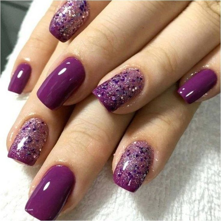 55 Glitter Gel Nail Designs For Short Nails For Spring 2019 25 Glitter Gel Nail Designs Glitter Gel Nails Purple Nails