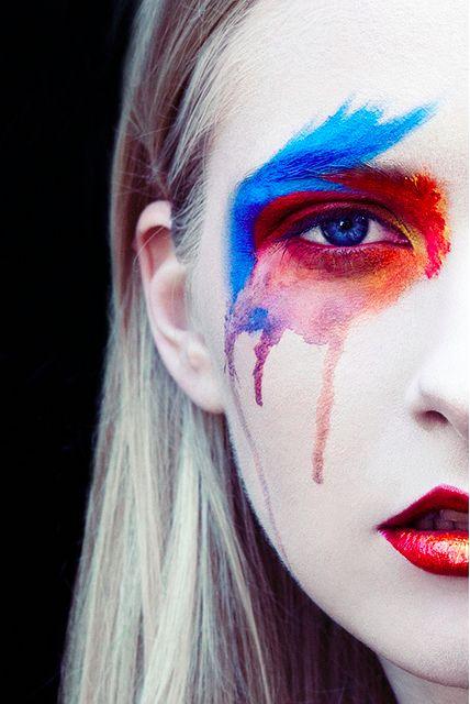 Gareth Rhys: Gareth Rhys, Watercolor Makeup, Body Art, Editorial Makeup, Makeup Beautiful, Creative Makeup, Makeup Hair, Water Colors, Eye