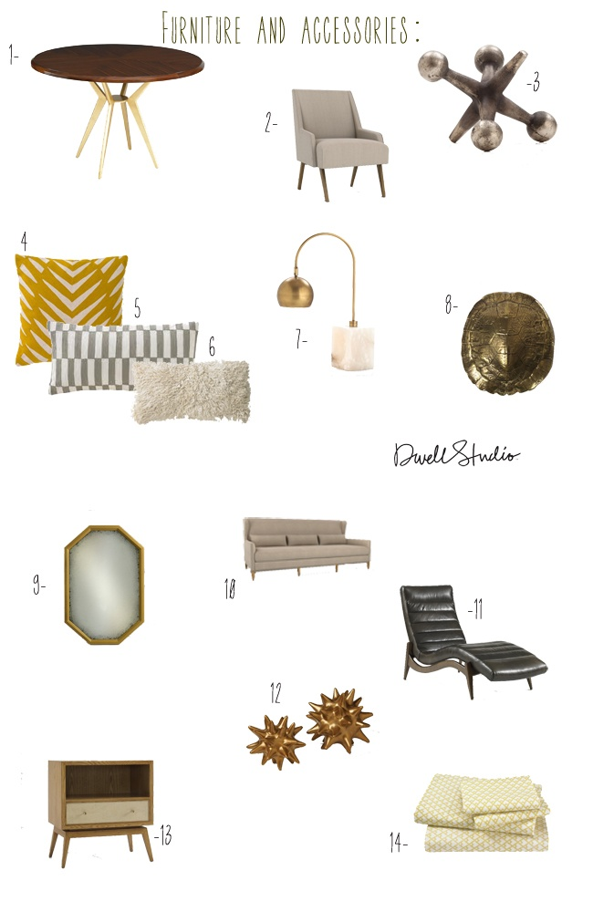 love the dwellstudio furniture and accessories picks