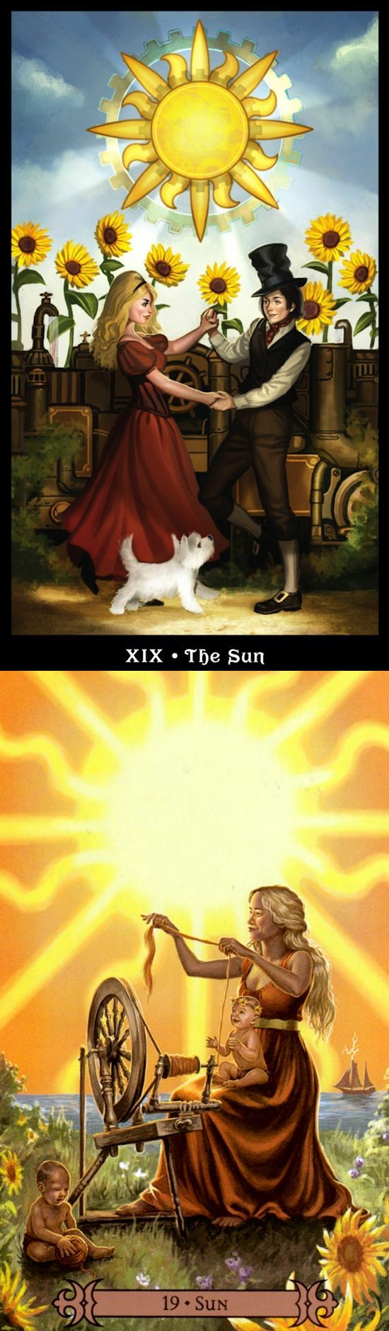 THE SUN: clarity and depression (reverse). Steampunk Tarot deck and Spellcasters Tarot deck: tarot definition, free love tarot and 6 card reading. Best 2017 rituals witchcraft and halloween costumes.