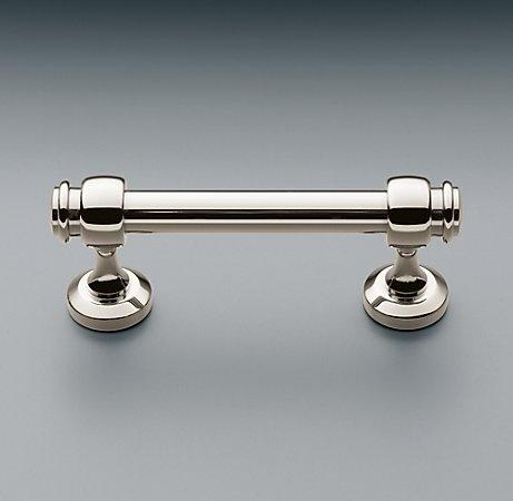 polished nickel drawer pull