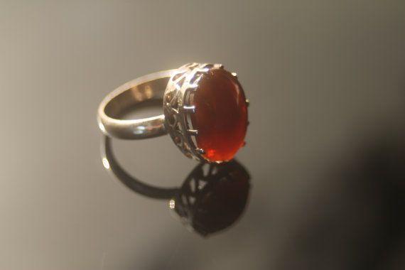 FIRE OPAL Ring by PiromanGemstones on Etsy, $75.00