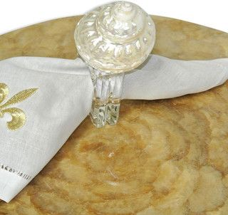 "Napkin Ring- 3"" Undusa - transitional - napkin rings - by Bliss Home & Design"