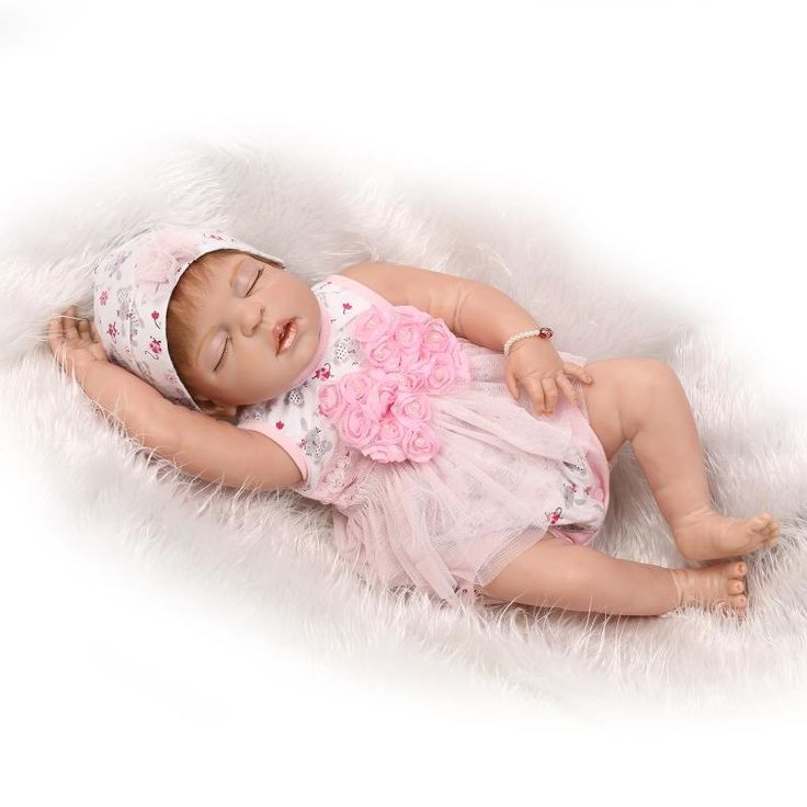 99.84$  Watch now - http://alizm9.worldwells.pw/go.php?t=32782713343 - Reborn Doll 22inch Full Body Silicone Reborn Baby Doll 55cm Silicone Baby Newborn Babies Toys bambole Bebe Bonecas brinquedos