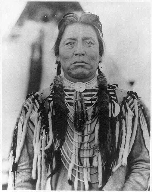 Two Guns White Calf, the Blackfoot Indian Chief whose profile is on the Buffalo nickel.