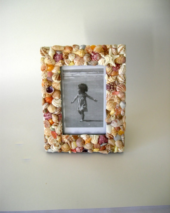 Sea Shell Picture Frame by judystephenson on Etsy, $27.00