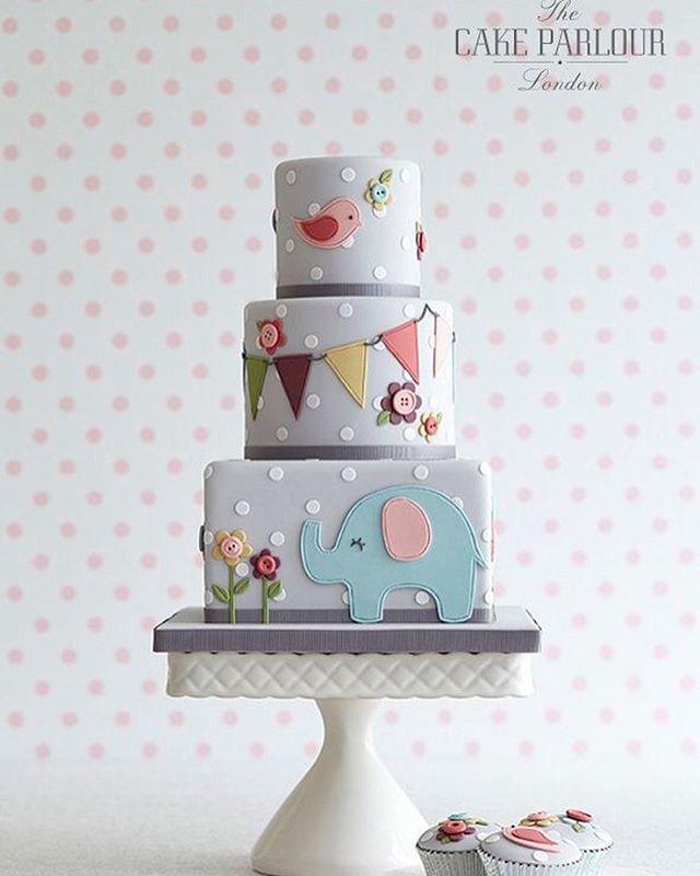 Elephant Baby Shower Cake By Cake Parlour