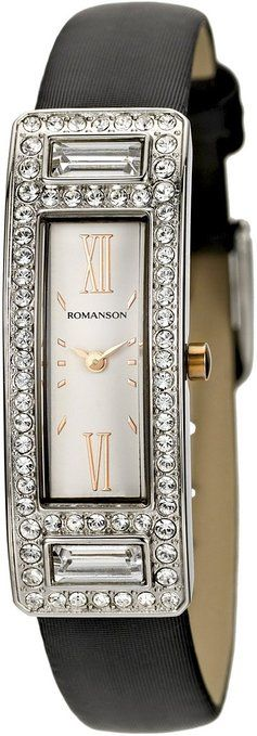 Romanson Women's RL7244TL1JA16R Swiss Quartz Watch with Swarovski Elements