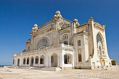 Beautiful old casino on the seashore in Constanta, Romania.