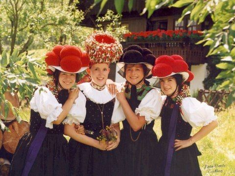 The old traditional costumes of the Black Forest.
