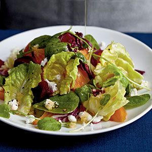 Winter Salad with Roasted Beets and Citrus Reduction Dressing   MyRecipes.com