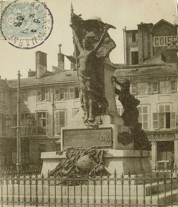 French Antique Postcard  Carnot Monument Chalons sur by ChicEtChoc, $4.50