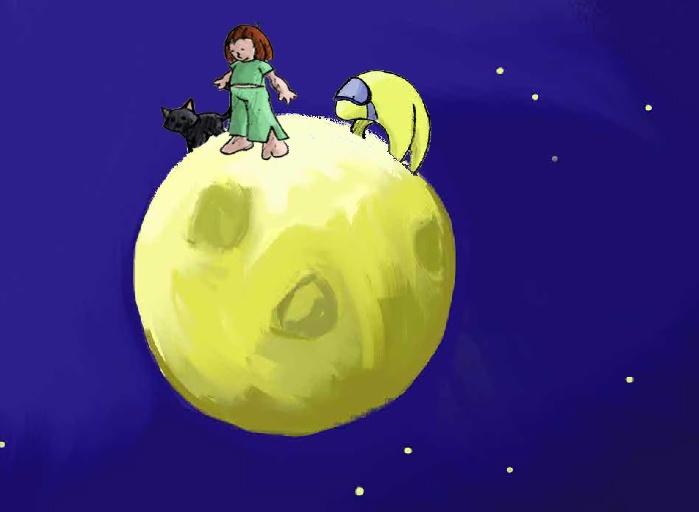 Lola op de maan - digitaal prentenboek