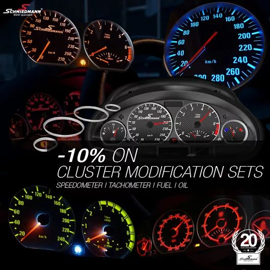 Want some cool light in your dashboard? Check out our cluster modding sets http://goo.gl/J79XYV #schmiedmann #bmw