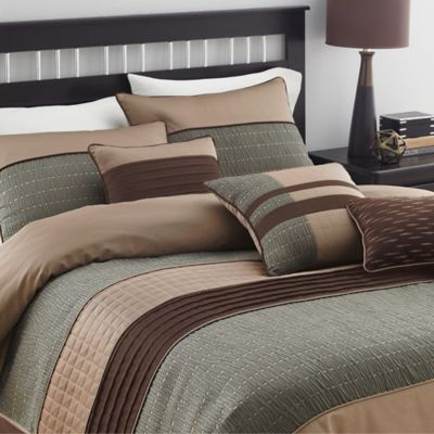 Lexia Comforter Set - BedBathandBeyond.com Great colors and great price