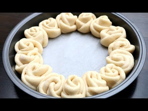 Rose Buns Recipe | Flower Bread Super Soft & Chewy Milk Bread Rolls - YouTube