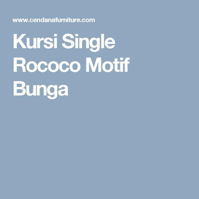 Kursi Single Rococo Motif Bunga