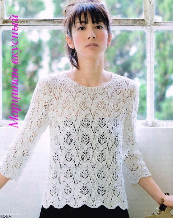 Мобильный LiveInternet белый узорчатый пуловер | Тэтя - Дневник Тэтя |