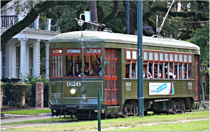 St. Charles Ave. Streetcar 926 (With images) New orleans