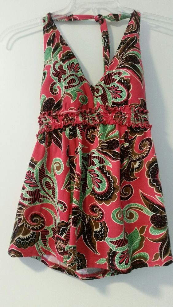 A PEA IN THE POD Maternity Swim Top Tankini Halter Floral Paisley Sz L Large EUC | Clothing, Shoes & Accessories, Women's Clothing, Maternity | eBay!