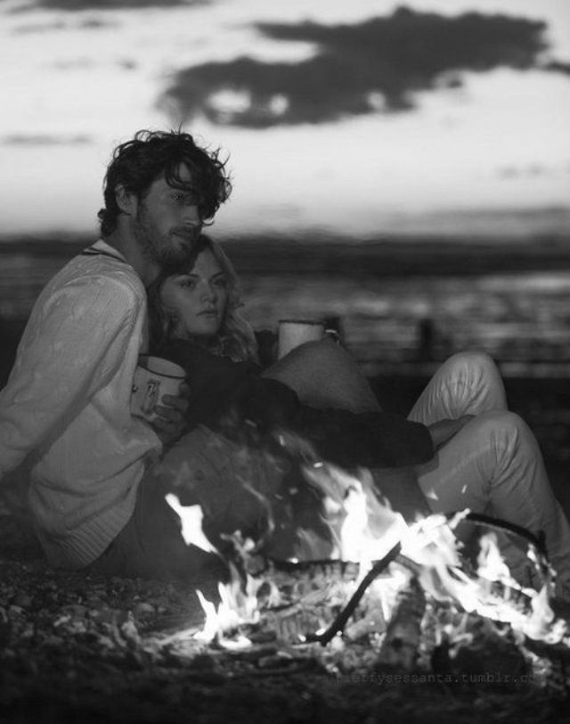Descending sun. Passionate fire. Presence of each other's souls.