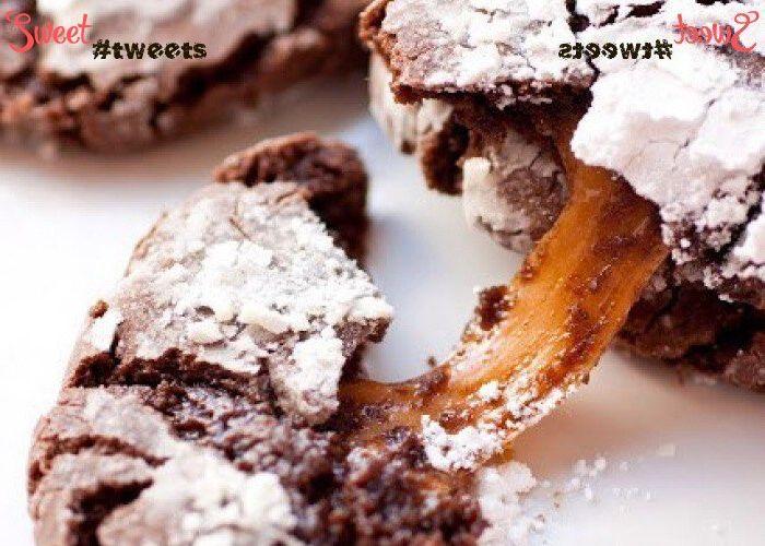 Шоколадно-мраморное печенье с карамельным центром