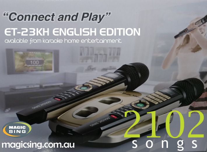 English Edition Magic Sing Karaoke System ET-23KH
