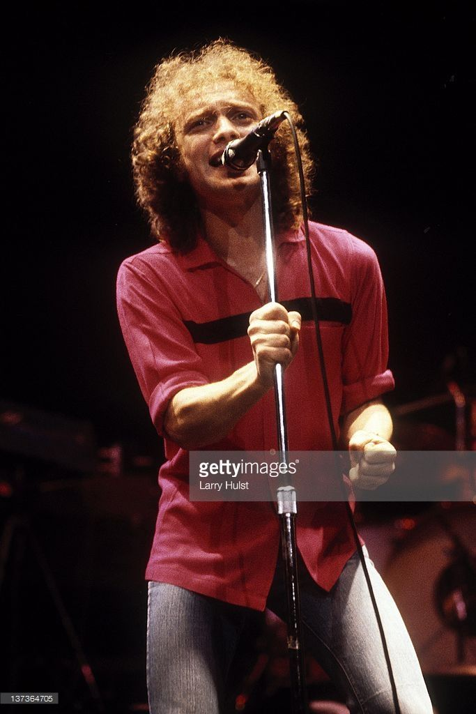 <a gi-track='captionPersonalityLinkClicked' href='/galleries/personality/896117' ng-click='$event.stopPropagation()'>Lou Gramm</a> performing with 'Foreigner' at the Oakland Coliseum in Oakland, California on October 24, 1985.