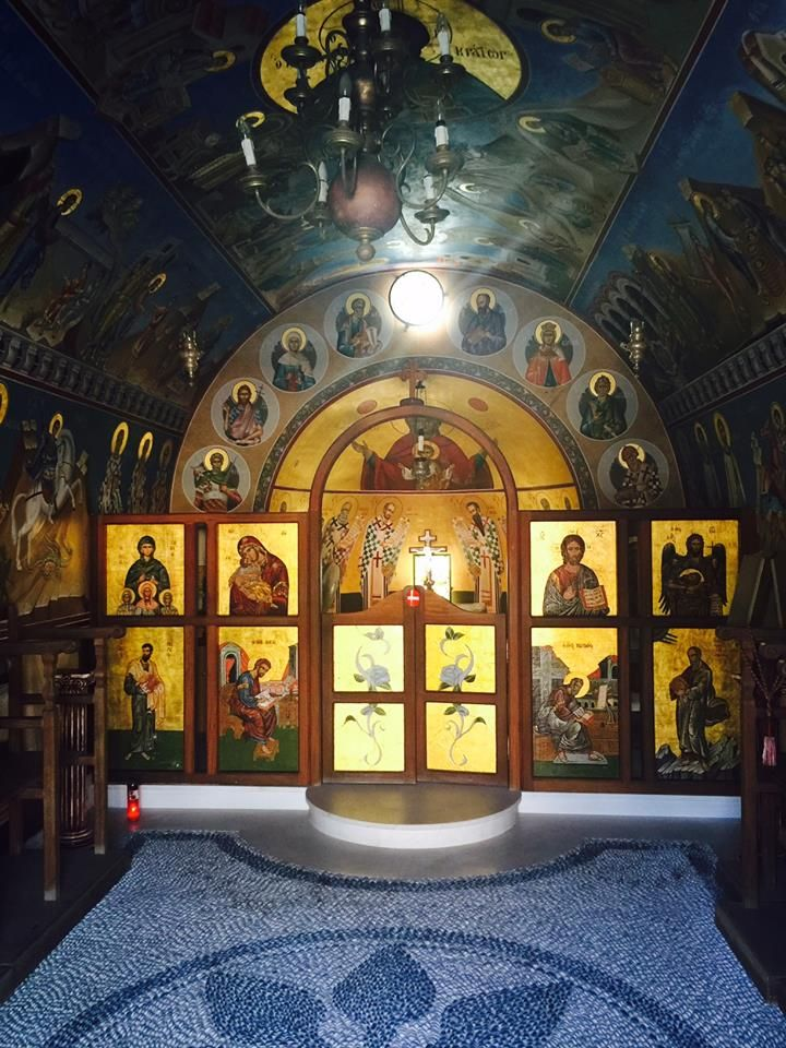 The evocative interior of the Agia Sofia Chapel in Faliraki, Rhodes.